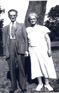 Abraham and Rose Auerbach. Philadelphia. Year 1954.