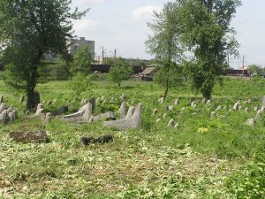 Berdichev. Remnants of the old Jewish cemetery destroyed during the Nazi occupation. Year 2007-2011.