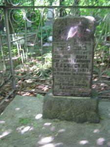 Kiev. Grave site of Borukh Babinsky, Khaim Babinsky, and Khaya Babinskaya, nee Shlyapochnik on the Kurenevskoye cemetery. Year 2007-2011.