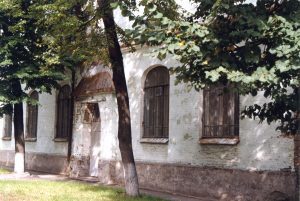Kiev. Area of Kurenevka. Building of former School No. 14. Year 1997.