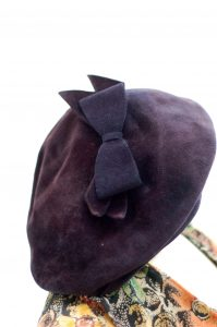 Rakhil's blue beret made of felt. Worn in the spring and fall daily for twenty-five years beginning around 1955.