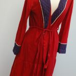 Flannel house robe. A gift for Bena's 25th birthday by Tsiporah, the last thing she sewed.