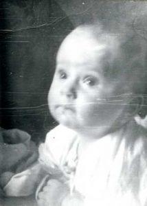 Polina Shklyanoy. Three months old. Kiev. 1975.