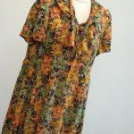 Silk dress made by Tsiporah for Rakhil in 1960. Worn for special occasions until Rakhil's death in 2004.