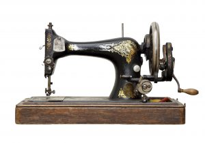 Vintage hand-driven Singer sewing machine similar to one manufactured in 1873 and used by Polina from about 1904 until 1972