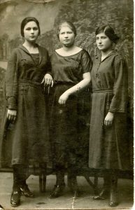 Esther Averbukh (on left). Belaya Tserkov. 1923.
