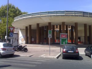 Post office in Ostia Lido, near Rome. Soviet immigrants congregated in front of it in the late 1970s.
