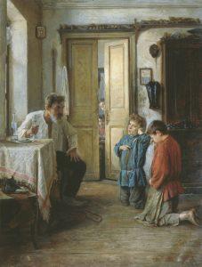 """Educator."" Painting by Russian painter Mikhail Vatutin (1892). Photo from: http://elise.com.ua/?p=183813"